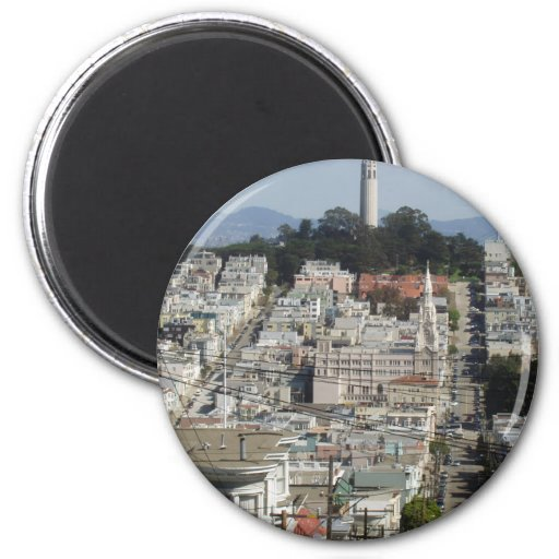 Coit Tower Scenic Picture Fridge Magnet