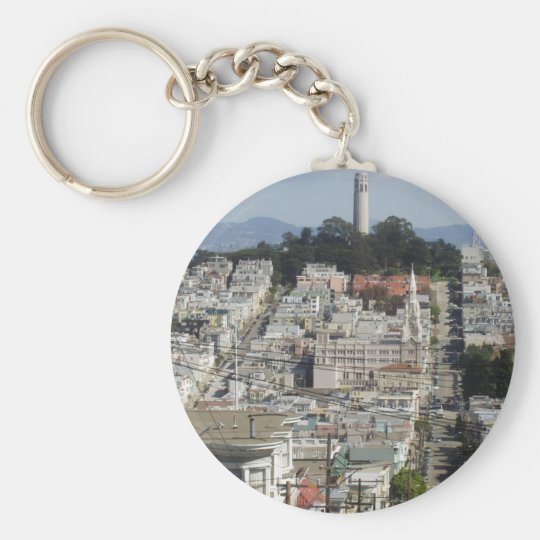 Coit Tower Scenic Picture Keychain