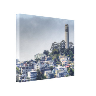 Coit Tower Stretched Canvas Prints
