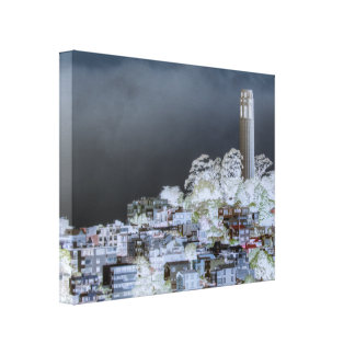 Coit Tower Surreal Stretched Canvas Prints