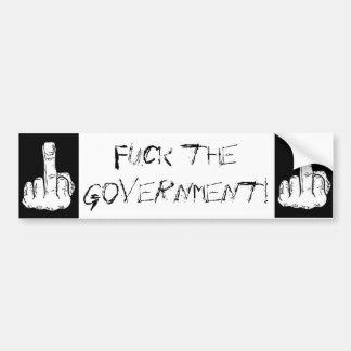 ¡Coja al gobierno! Pegatina Para Auto