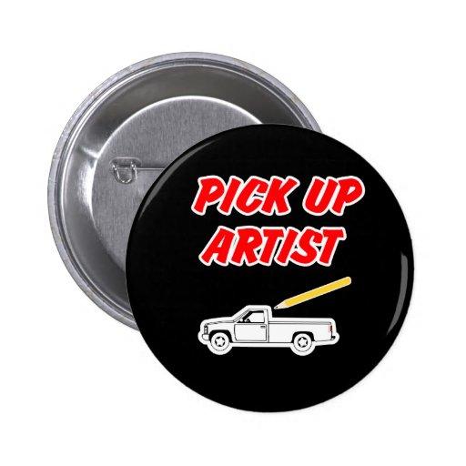 Coja el botón del artista pins