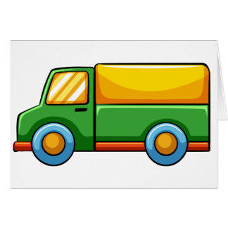 Coja el camión tarjeta de felicitación