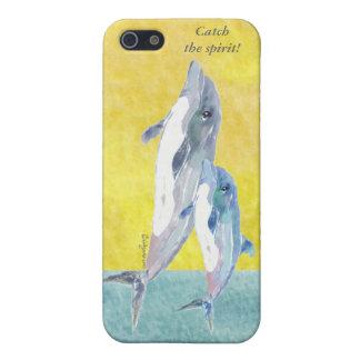 Coja el caso del iPhone 4 de los delfínes del alco iPhone 5 Funda