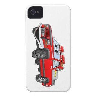 Coja el dibujo animado del coche de bomberos iPhone 4 Case-Mate fundas