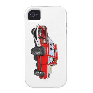 Coja el dibujo animado del coche de bomberos vibe iPhone 4 carcasas