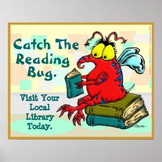 Coja el insecto de la lectura póster