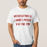 Coja el levantamiento de pesas playera
