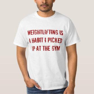 Coja el levantamiento de pesas remera