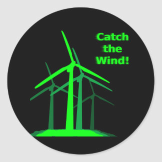 ¡Coja el viento Pegatina