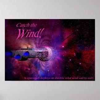 Coja el viento solar póster