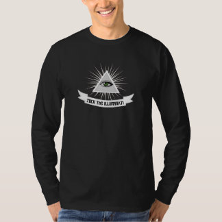 Coja la camiseta larga Anti-NWO de la manga de Polera