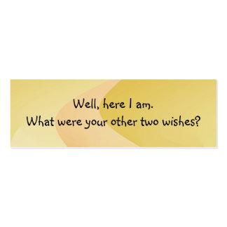 Coja la línea tarjeta de la introducción tarjetas de visita mini