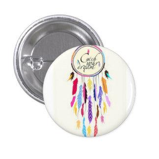 Coja su botón de Dreamcatcher de los sueños pequeñ Pin Redondo De 1 Pulgada