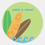 Coja un pegatina/un sello de la onda