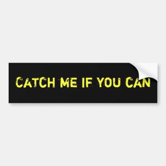 Cójame si usted puede pegatina para el parachoques pegatina para auto
