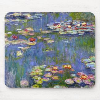 Cojín 1916 de ratón de los lirios de agua de Monet Tapete De Ratones