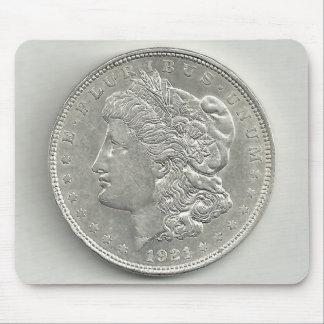 Cojín 1921 de ratón del dólar de plata de Morgan Alfombrillas De Ratones