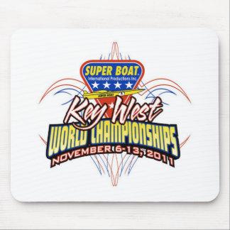 Cojín 2011 de ratón del campeón del mundo de Key W Mouse Pads