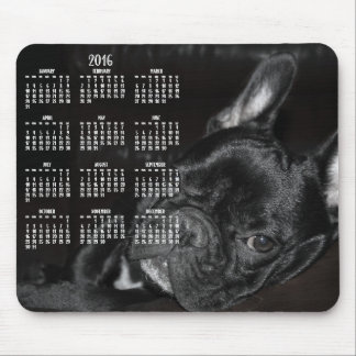 Cojín 2016 de ratón del calendario del dogo mousepads