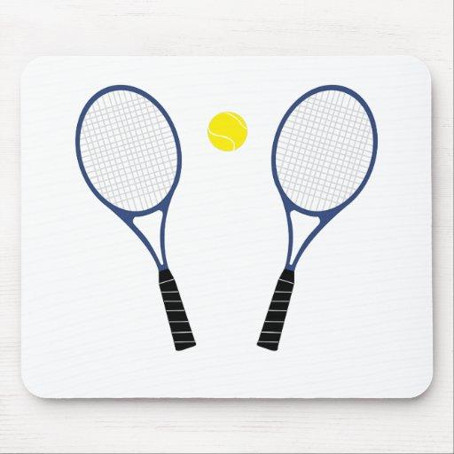 Cojín azul de las estafas de tenis y de ratón de l tapete de ratones