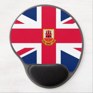 Cojín británico del gel del ratón de la bandera alfombrilla de ratón con gel