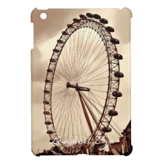 Cojín BRITÁNICO del ojo de Londres del vintage min iPad Mini Cobertura