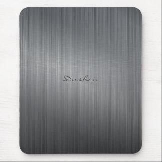 Cojín cepillado negro del iMouse del metal Alfombrilla De Ratones