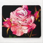 Cojín color de rosa alfombrillas de ratón