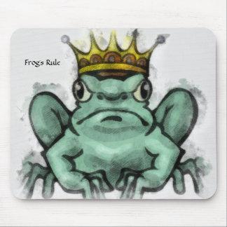 Cojín coronado rana del rey ratón mouse pad