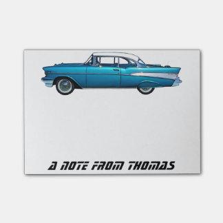 Cojín de encargo clásico 1957 del post-it de Chevy Notas Post-it®