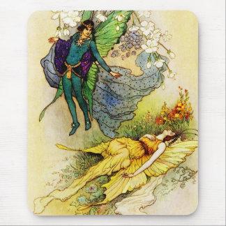 Cojín de hadas del príncipe y de la princesa ratón tapete de raton