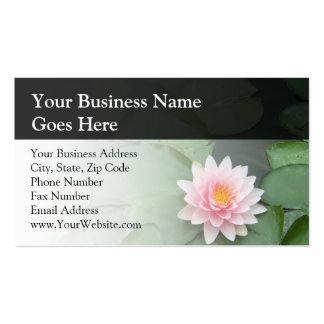Cojín de lirio rosado/verde personalizado tarjetas de visita