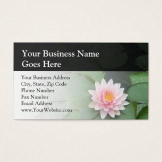 Cojín de lirio rosado/verde personalizado tarjeta de negocios