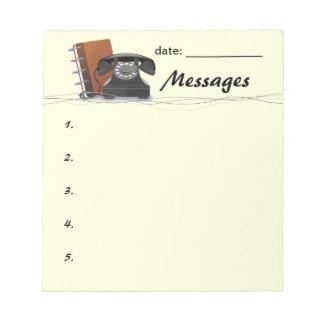 Cojín de mensaje retro blocs de notas