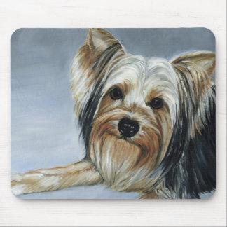 Cojín de Moouse del arte del perro de Yorkshire Te Alfombrilla De Ratones