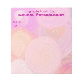Cojín de nota atractivo para los psicólogos de la  blocs de notas