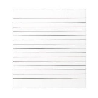 Cojín de nota con las líneas obra clásica negra blocs de notas