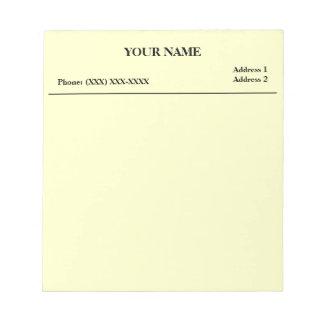 Cojín de nota de la clínica (blanco) bloc de notas
