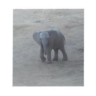 Cojín de nota del elefante del bebé - por la blocs