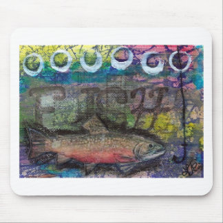 Cojín de ratón abstracto de los pescados tapete de ratón