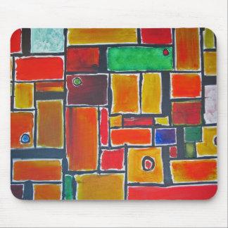 Cojín de ratón abstracto de Mondrian Tapetes De Ratones