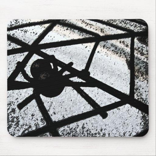 Cojín de ratón abstracto del arte de Web de araña Alfombrillas De Ratón
