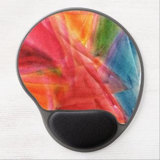 Cojín de ratón abstracto del gel de la pintura de  alfombrillas de ratón con gel