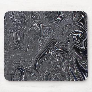 Cojín de ratón abstracto negro y blanco del arte tapete de ratones