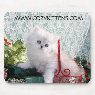 Cojín de ratón acogedor del navidad de los gatitos tapete de ratón