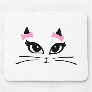 Cojín de ratón adaptable de la cara del Puss Alfombrilla De Ratones