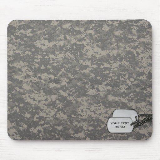 Cojín de ratón adaptable del camuflaje mousepad
