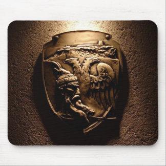 Cojín de ratón albanés del escudo tapete de raton