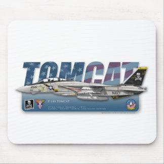 Cojín de ratón alegre de F-14 Tomcat VF-84 Rogers Tapete De Ratones